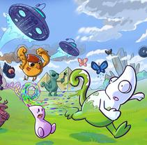 Canvaleon videojuego para Nintendo WII U. A Illustration, Software Development, IT, Animation, Art Direction, Character Design, Game Design&Interactive Design project by Javier Gilo Ruiz         - 22.06.2015
