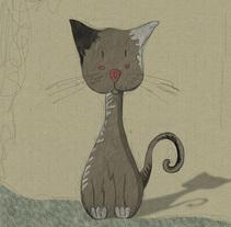 gatito ilustrado. A Design, Illustration, and Character Design project by zoraida sobrin pintor - 22-09-2015