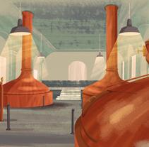 Beer Institute. Un proyecto de Ilustración de David Pocull - Miércoles, 23 de septiembre de 2015 00:00:00 +0200