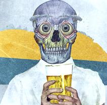 Mi cerveza . Un proyecto de Collage e Ilustración de Paco Campos Pérez - Miércoles, 30 de septiembre de 2015 00:00:00 +0200