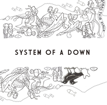 "System of A Down ""Steal This Album"" (rediseño CD). A Illustration project by Juls Benot         - 03.02.2015"
