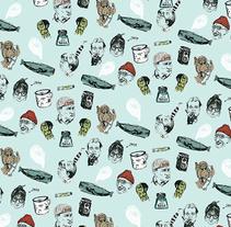 Combo pattern. A Design&Illustration project by Carolina Jiménez Domínguez         - 13.10.2015
