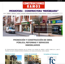 WEB Construcciones Ramos. Um projeto de Web design de Moisés Escolà Martínez         - 17.10.2014