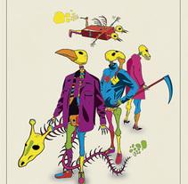 Ilustración alusiva a la festividad del día de muertos en México, 2015.. Um projeto de Ilustração de Chuy Velez - 08-11-2015