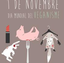 Il.lustració pel dia mundial del veganisme. A Illustration, Accessor, Design, Fashion, Graphic Design, and Product Design project by Tona Casas Servat         - 08.11.2015