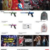 Maquetado de sitio web - Overdose Paintball Store. Um projeto de Design e Web design de Agustín Mujica         - 10.11.2015