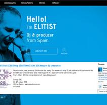 Diseño web / Muse www.elitist-productions.com. Um projeto de Web design de Sergio Sala Garcia         - 13.08.2015