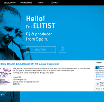 Diseño web / Muse www.elitist-productions.com. A Web Design project by Sergio Sala Garcia         - 13.08.2015