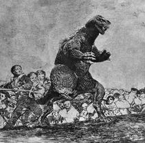 Godzilla. A Fine Art, and Collage project by Mª Concepción Tomás Rivera         - 16.11.2015