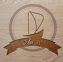 Sail boat Aju IV Logo. A Graphic Design project by Sandra González Luna         - 21.06.2015