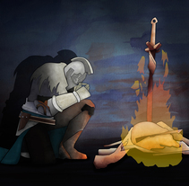 """Ilustración """"Dark Souls II"""". Un proyecto de Ilustración y Pintura de Isi Cano - 16-11-2015"""