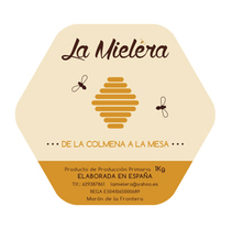 Logosímbolo y etiqueta La Mielera. Um projeto de Br e ing e Identidade de Rocío González         - 19.11.2015