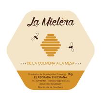 Logosímbolo y etiqueta La Mielera. Un proyecto de Br e ing e Identidad de Rocío González         - 19.11.2015