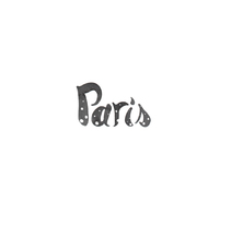 Typography / Watercolor PARIS DOTS. A Illustration, T, and pograph project by Serena Olivieri         - 14.12.2015