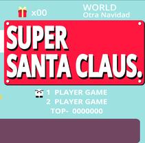 Super Santa Claus. A Motion Graphics project by Carmen Aldomar         - 21.12.2015