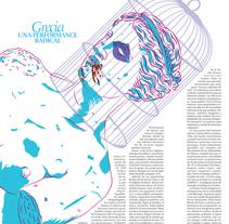 """Portadas para el """"Culturas"""" del periódico Diagonal 2015. Um projeto de Design e Ilustração de Byron Maher ( bymah )         - 29.12.2015"""