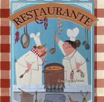 Recetario Cocina. Um projeto de Ilustração de Eva Bajo         - 04.10.2015