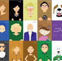 tucartoOn familia. A Illustration project by Paula Terrón Zambrano         - 09.01.2016