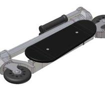 Patinete Compact, diseño de un patinete lo más compactable posible.. A Design, 3D, Industrial Design, and Product Design project by Héctor Núñez Gómez         - 11.01.2016