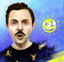 Martin Solveig. Digital. A Design, Illustration, Fine Art, Graphic Design, and Painting project by BORCH         - 11.01.2016