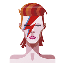 Bowie. A Illustration project by Ricardo Polo López - Jan 13 2016 12:00 AM