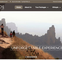 Inside Ethiopia Tours. A UI / UX, IT, Br, ing, Identit, Graphic Design, Information Design, Interactive Design, Web Design, and Web Development project by Eric Carreras-Candi - 14-01-2016