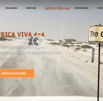 Web - AFRICA VIVA 4X4 - SLIDES. Un proyecto de Diseño Web y Desarrollo Web de Esther Martínez Recuero - Lunes, 20 de enero de 2014 00:00:00 +0100