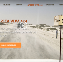 Web - AFRICA VIVA 4X4 - SLIDES. A Web Design, and Web Development project by Esther Martínez Recuero - 19-01-2014