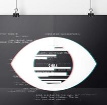 Diseño de cartel inspirado en Orwell . A Graphic Design project by Mónica Galán de la Llana - 20-01-2016