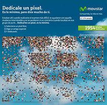Dedícale un píxel, Movistar. A Animation, Br, ing, Identit, Web Development, Art Direction, Web Design, and UI / UX project by Jorge Dourado - Apr 26 2010 12:00 AM