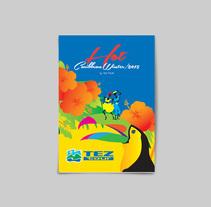 Hot Caribbean Winter Pamphlet. Un proyecto de Diseño, Ilustración y Diseño editorial de Gunter Schobel         - 14.12.2015
