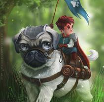 Pug Adventure. Um projeto de Ilustração de gesiOH         - 27.01.2016