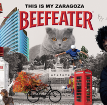 Cartel Beefeater con Photoshop. A Design, Illustration, Advertising, Motion Graphics, Art Direction, Graphic Design, and Multimedia project by Alex Novella Parroqué - 28-01-2016