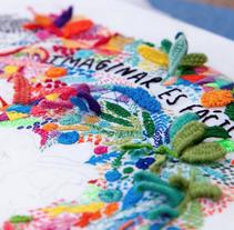 """Imagina es fácil: Bordado para el libro """"Diario de una volátil"""" de Agustina Guerrero. A Design, Illustration, Art Direction, Crafts, Fine Art, and Graphic Design project by Señorita Lylo         - 23.02.2016"""