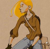 Girl on a bike!. Um projeto de Ilustração de Salvador Laserna Pla         - 02.03.2016