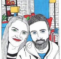 Ilustración vida en pareja.. Un proyecto de Ilustración y Diseño gráfico de Sara Cuenca Segovia - 02-03-2016