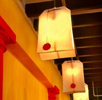 diseño de  luz para el restaurante MAKING TAPAS  palma de mallorca. Um projeto de Design de iluminação de beatriz cárcamo bravo         - 04.03.2007