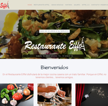 "Diseño Web ""Restaurante Eiffel"". A Web Design, and Web Development project by DCI Punto y Coma         - 03.03.2016"