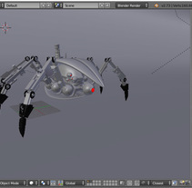 Spiderbot. Modelado 3D en Blender. Un proyecto de 3D de Jose Cabrera         - 07.03.2016