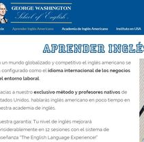Web a medida: GEORGE WASHINGTON SCHOOL. A Advertising, and Web Development project by Publicis Proximedia         - 13.03.2016