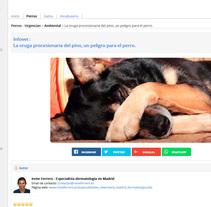 Portal web de veterinaria en el que ha sido un placer participar. No he hecho un prodigio (ni mucho menos) de diseño, pero es que el estilo wiki no da para más. http://www.infovet.es. Um projeto de Arquitetura da informação, Web design e Desenvolvimento Web de pestanin         - 19.02.2016