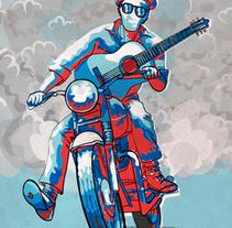 Pedro Jiménez & La Vino Dulce Big Band.. A Illustration, and Graphic Design project by Guillermo Luceño Méndez         - 22.03.2016