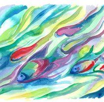 Color de Agua - Watercolor - Acuarelas . Un proyecto de Ilustración y Bellas Artes de Alicia Gomis         - 27.03.2016