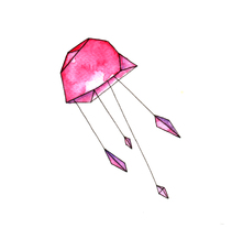 Jellyfish - serigrafía. Un proyecto de Ilustración de Raquel Duart         - 28.03.2016