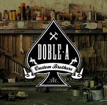 Doble A · Custom Brothers. Un proyecto de Br, ing e Identidad y Diseño gráfico de John O'Hare         - 30.03.2016