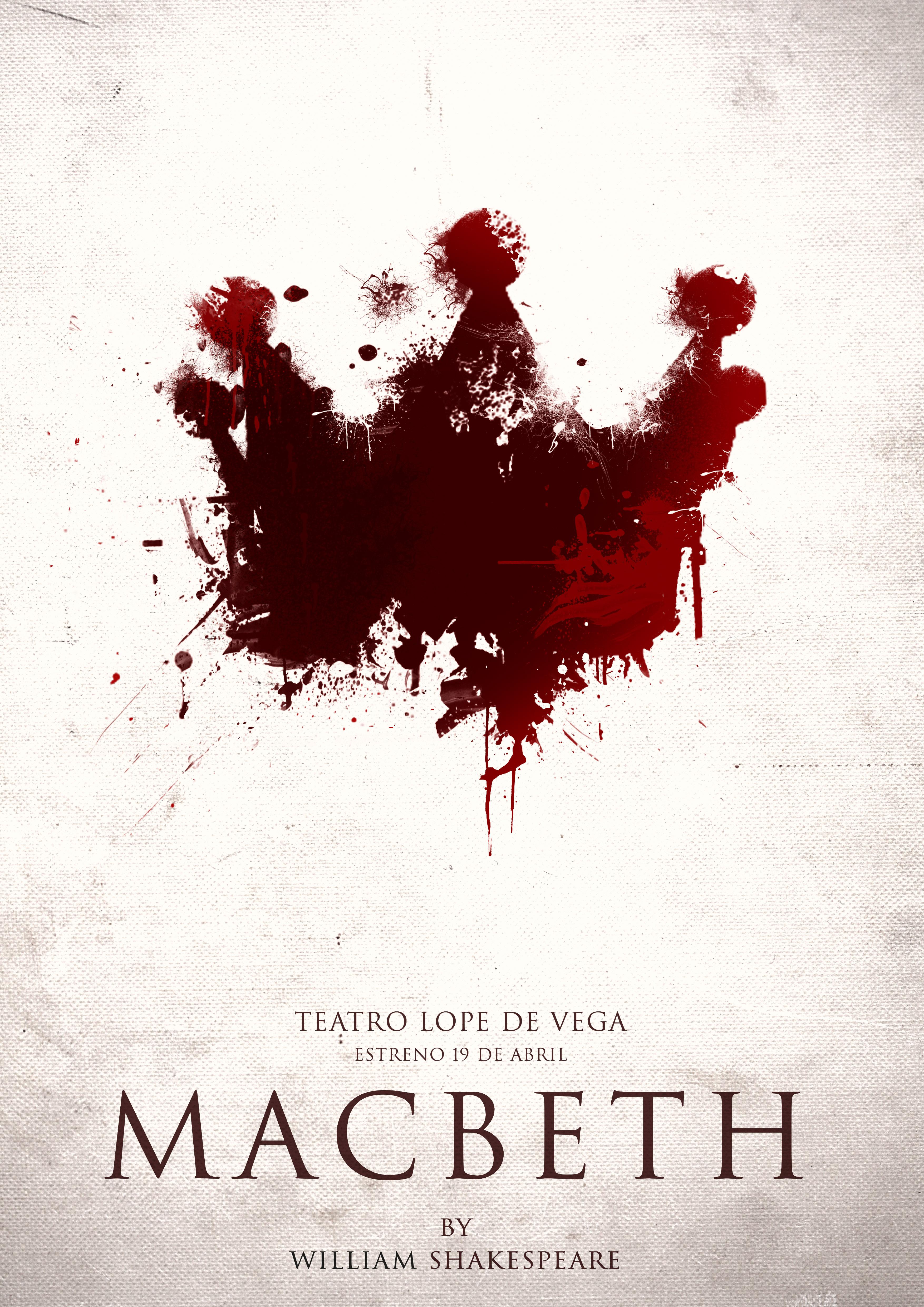 carteles obra de teatro macbeth domestika