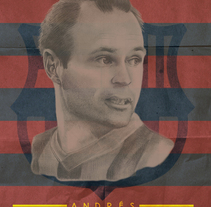 Andrés_Iniesta. A Design, Illustration, Fine Art, and Graphic Design project by MoMad Bcn - 03-04-2016