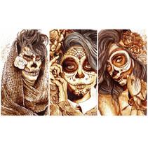 """Sugar Skull"" - Ilustraciones con café. A Design, Illustration, Character Design, Crafts, Fine Art, and Painting project by Nuriamarq (Nuria Salcedo)         - 11.04.2016"