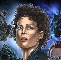 Aliens Movie Poster. Un proyecto de Diseño, Ilustración, Dirección de arte, Bellas Artes y Cine de Fernando Martín Antón - 25-04-2016