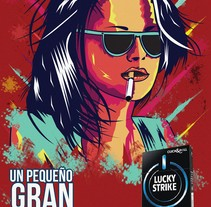 ILUSRACION LUCKY STRIKE!. A Design, Illustration, Br, ing, Identit, and Graphic Design project by Agust_n_Garc_a - 09-08-2016